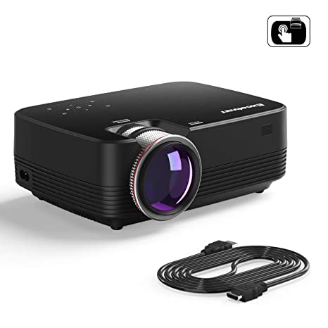 Excelvan Q6 1800 lúmenes 4 LED Mini portátil Proyector de Video Multimedia Soporte 1080P