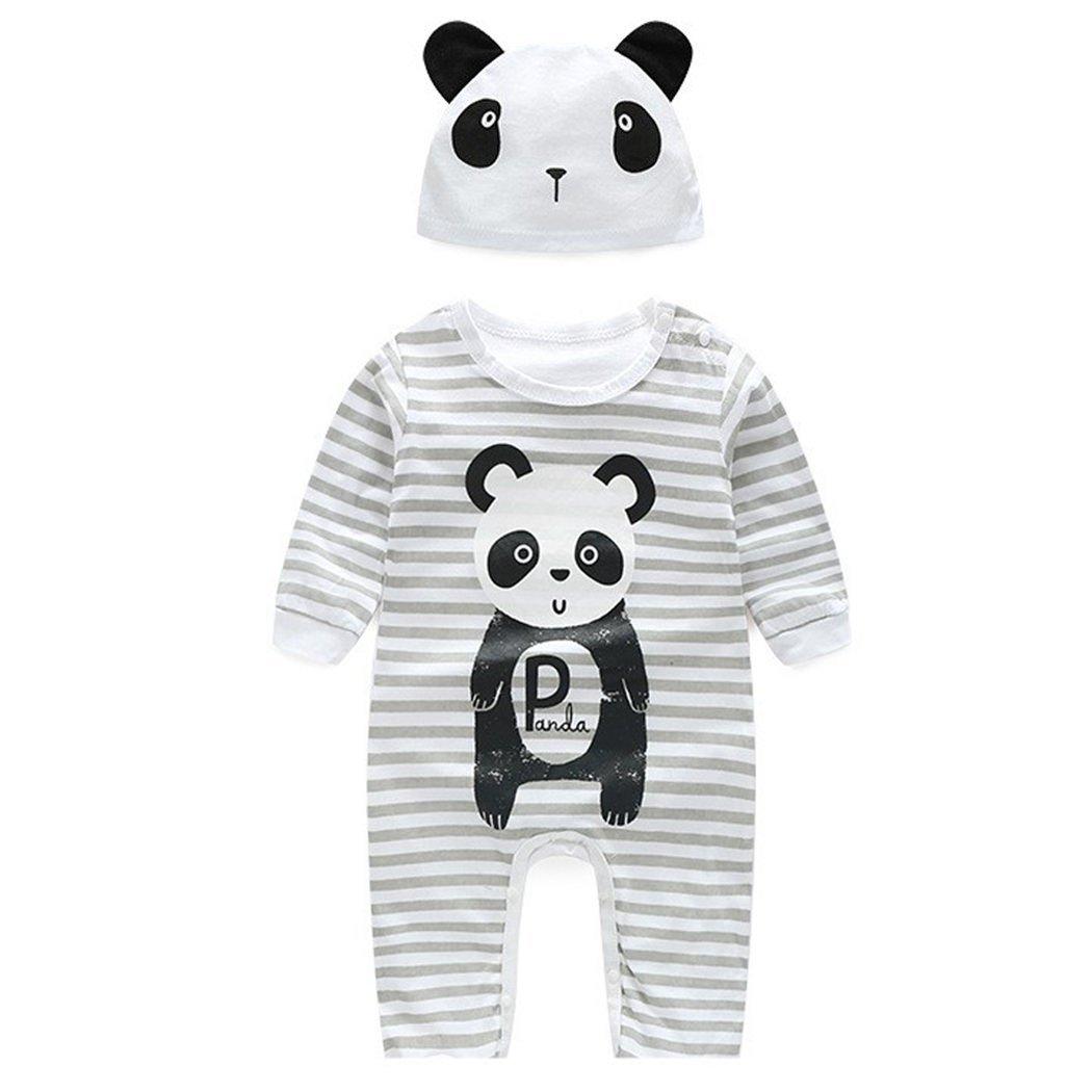 MIOIM Unisex Baby Jungen Mädchen Tier Druck Strampler Langram Overall Warm Jumpsuit mit Kaupuzen DEHAZ*KA947