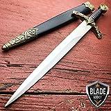 Cheap 13.5″ KING ARTHUR MEDIEVAL Historical SHORT SWORD DAGGER For Practical Use iCareYou Durable Knife Knight Scabbard