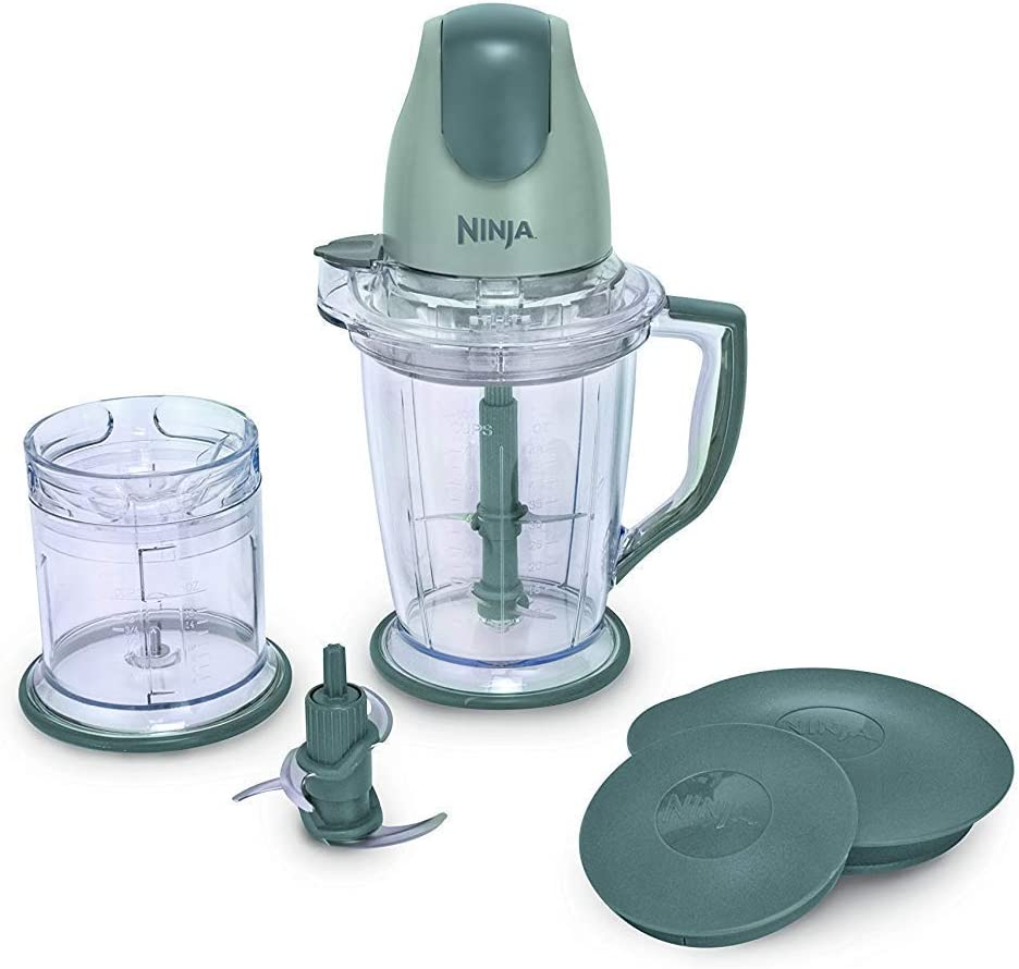 400-Watt Blender/Food Pocessor for Frozen Blending, Chopping and Food Prep with 48-Ounce Pitcher and 16-Ounce Chopper Bowl (QB900B), Silver (Renewed)