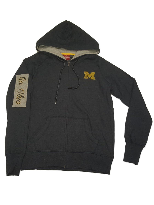 Michigan WolverinesコロシアムWomens Navyウルトラソフトフード付きフルZipジャケット( M )   B073FMDYWS