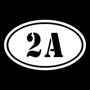 More Shiz 2A 2nd Amendment Vinyl Decal Sticker Car Truck Van SUV Window Wall Cup Laptop - One 5.5 Inch White Decal- MKS0675