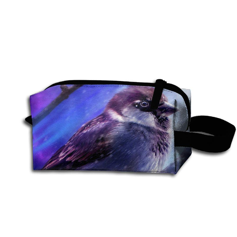 Makeup Cosmetic Bag 3D Birds Animals Painting Medicine Bag Zip Travel Portable Storage Pouch For Mens Womens