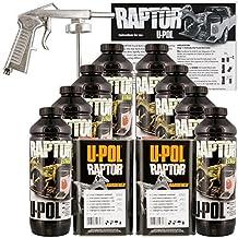 U-POL Raptor Tintable Urethane Spray-On Truck Bed Liner Kit w/ FREE Spray Gun, 8 Liters by U-Pol