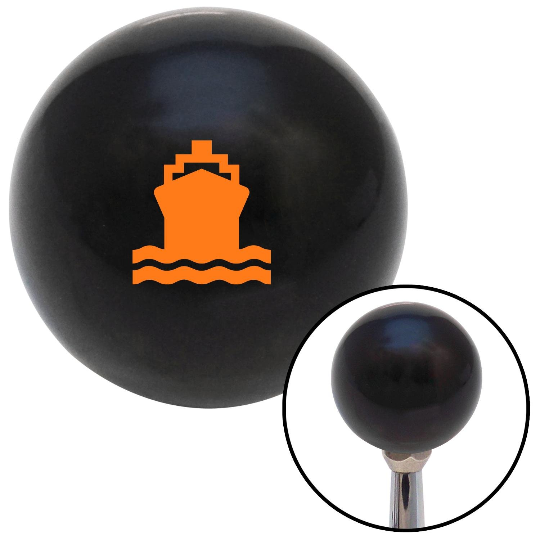 American Shifter 110750 Black Shift Knob with M16 x 1.5 Insert Orange Cruise Ship