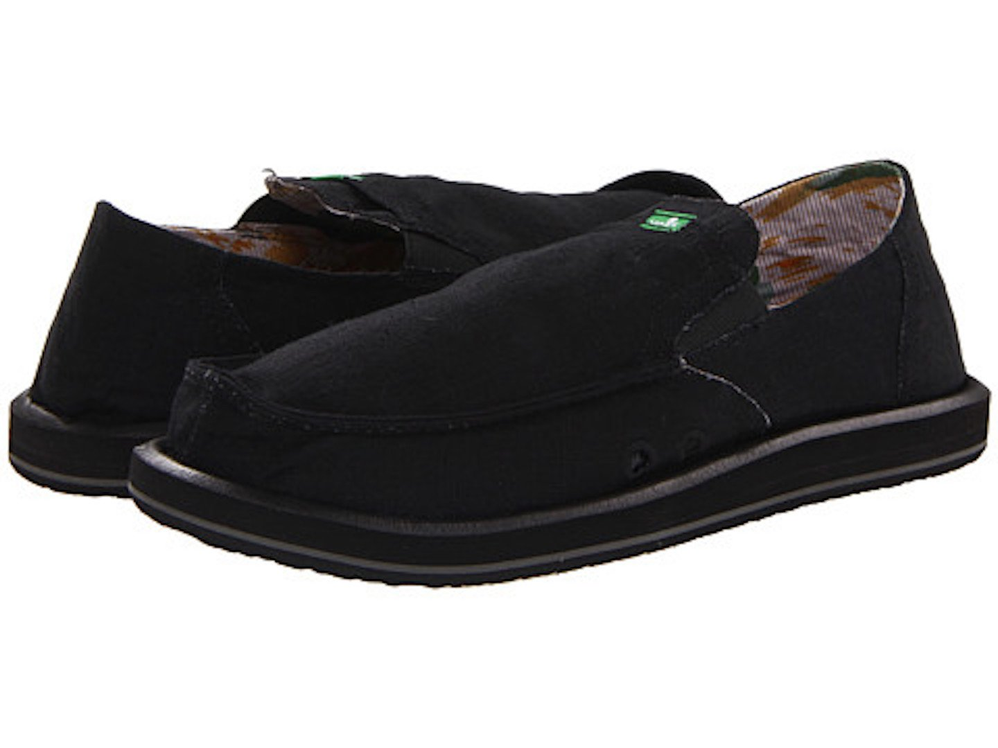 Sanuk Pick Pocket 29418012 - Mocasines de tela para hombre 41 EU|Black.