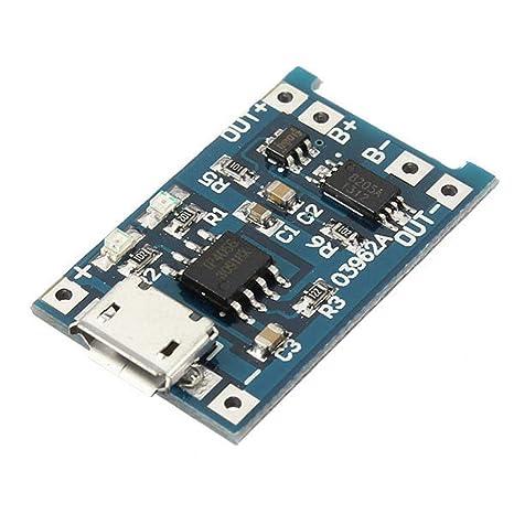 Módulo de cargador de batería de litio USB con carga y ...