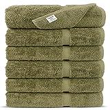 Premium Long-stable Turkish Cotton-Eco Friendly 6-Piece Washcloths (Driftwood)