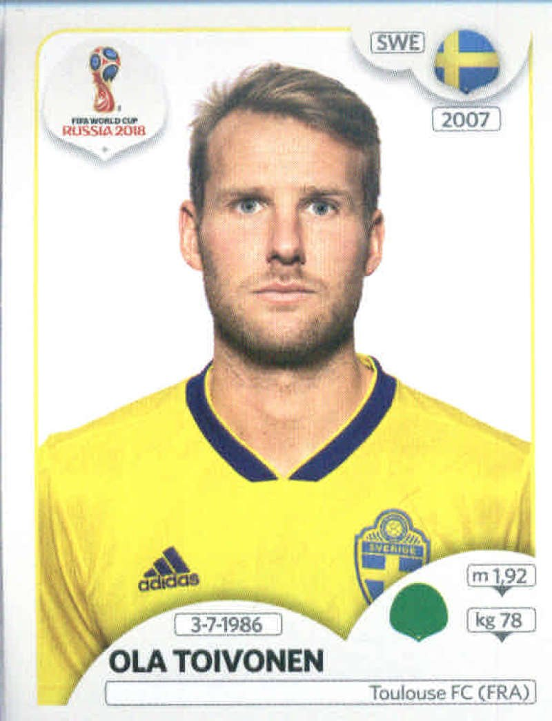 Panini WM 2018 World Cup Russia Sticker 491 Schweden Ola Toivonen