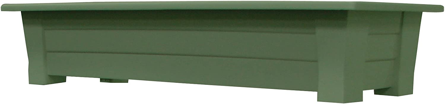 Adams Manufacturing 9302-01-3700 36-Inch Deck Planter, Sage Green
