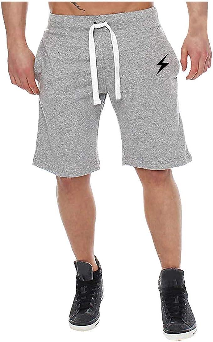 YEBIRAL Pantalones Cortos Hombre, Verano Playa Bermudas con ...