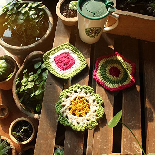 Crochet Bowl pad Disc pad A set of three Coasters Christmas Halloween -