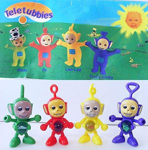 ONE Teletubbies Mini Figures Set Tinky Winky+Laa Laa+Dipsy+Po