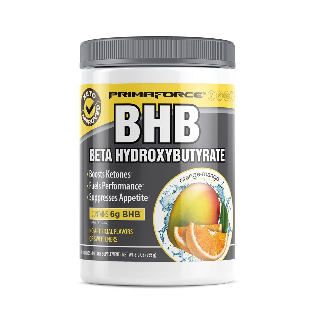 PrimaForce BHB - Keto Supplement - Fuels Physical Performance / Improves Mental Focus / Supports Ketosis - Orange-Mango, 30 Servings
