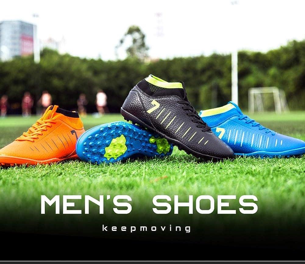 KANGLE Tobilleras Altas Botines de fútbol para Hombres Botas de fútbol Botines y Picos Cortos Zapatos de fútbol para Hombre Zapatillas de Deporte Césped Interior Futsal,Naranja,37: Amazon.es: Zapatos y complementos