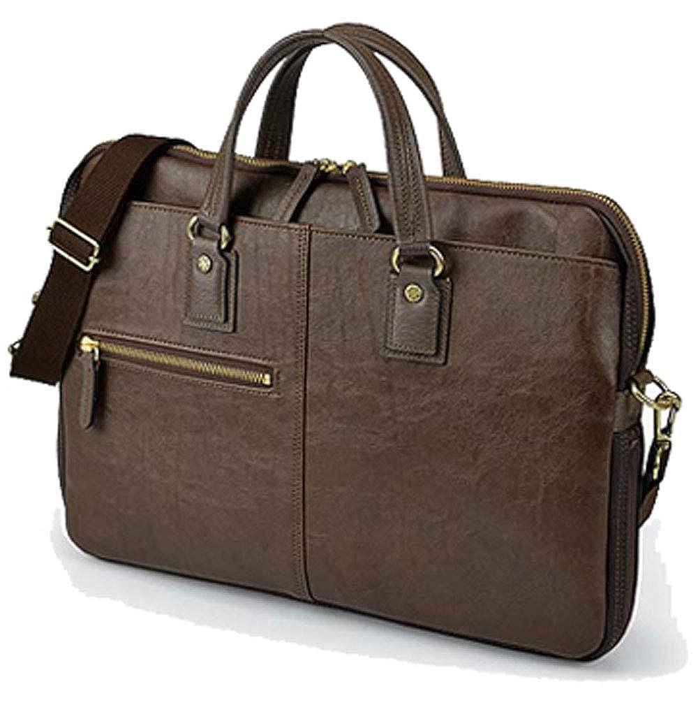 highstyle 日本製 豊岡鞄 薄型ビジネスバッグ メンズ 2WAYフェイクレザーエクスパンタブルビジネスバッグ B07NZ5G1LD ダークブラウン