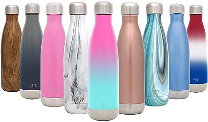 Simple Modern Wave 1000 mL (34oz) Termo Botella de Agua - Acero Inoxidable 18/8, Doble Pared y Aislamiento Al Vacío Jarra 1 Litro Cantimplora Aislado ...