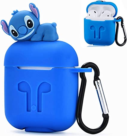 Amazon Com Joyleop Logee Stitch Case For Airpods 1 2 Charging