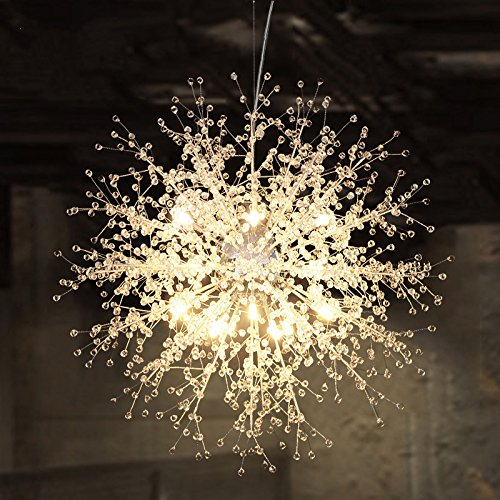 Wei-d Modern Creative Crystal Pendant Light Personalized Clothing Store Restaurant Living Room Bedroom Creative Dandelion Chandelier , A , 50cm (Shades Grey Red 50 Of Room)
