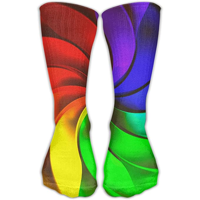 Amazon Com Etcre Unisex Windmill Color Wheel Fashion Crew Sock