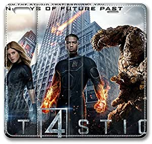 "2015 Fantastic Four iPhone 6 Plus Plus Case, Leather Cover for iPhone 6 Plus (5.5"") Premium Soft PU Leather Wallet Cover - Verizon, AT&T, Sprint, T-Mobile, International, and Unlocked with Black PC Hard Case Inside for iPhone 6 Plus by iCustomonline"