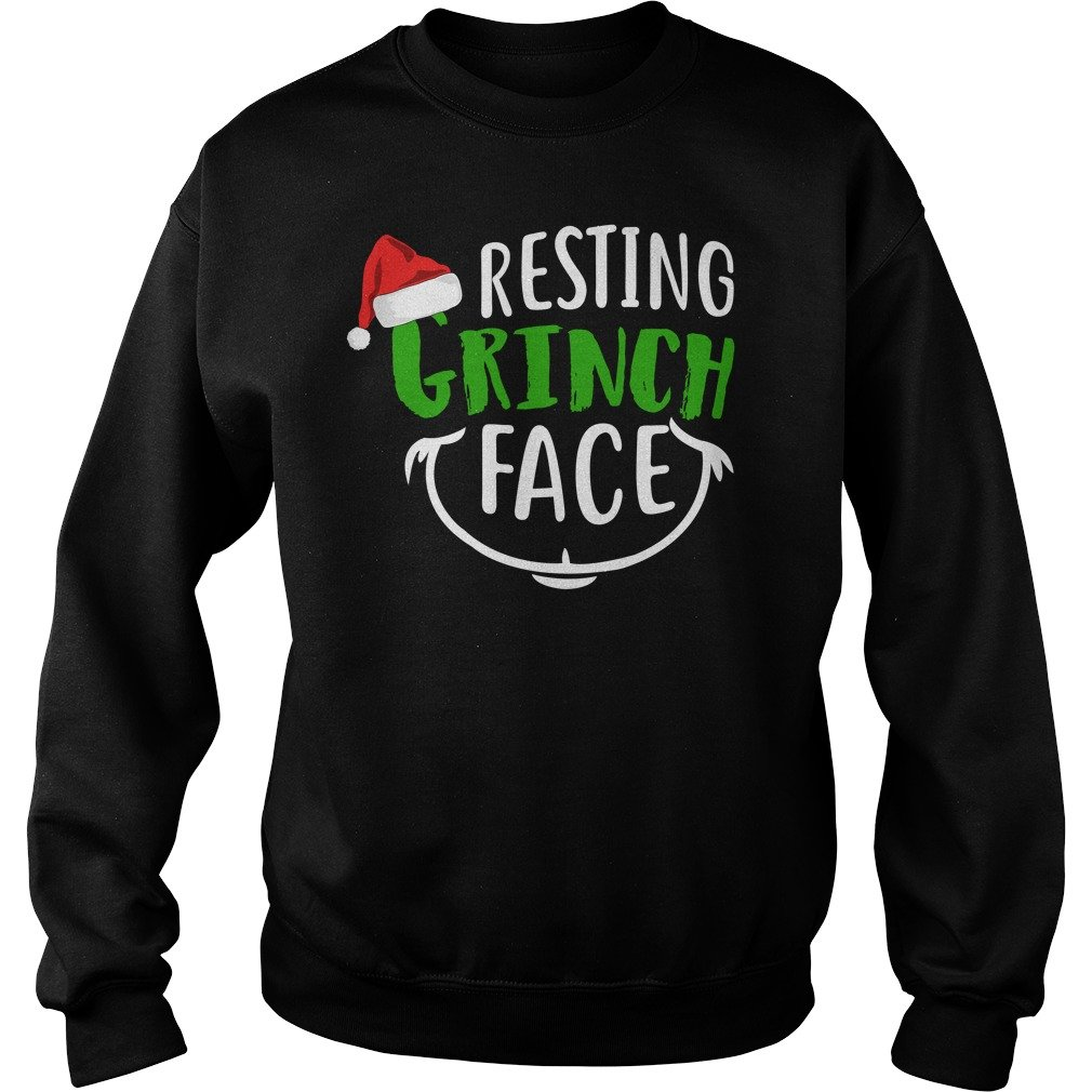Resting Grinch Face Christmas Holiday Christmas Sweater - Christmas ...