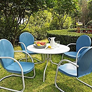 This Item Crosley Furniture Griffith 5 Piece Metal Outdoor Dining Set With  Table And Chairs   Sky Blue