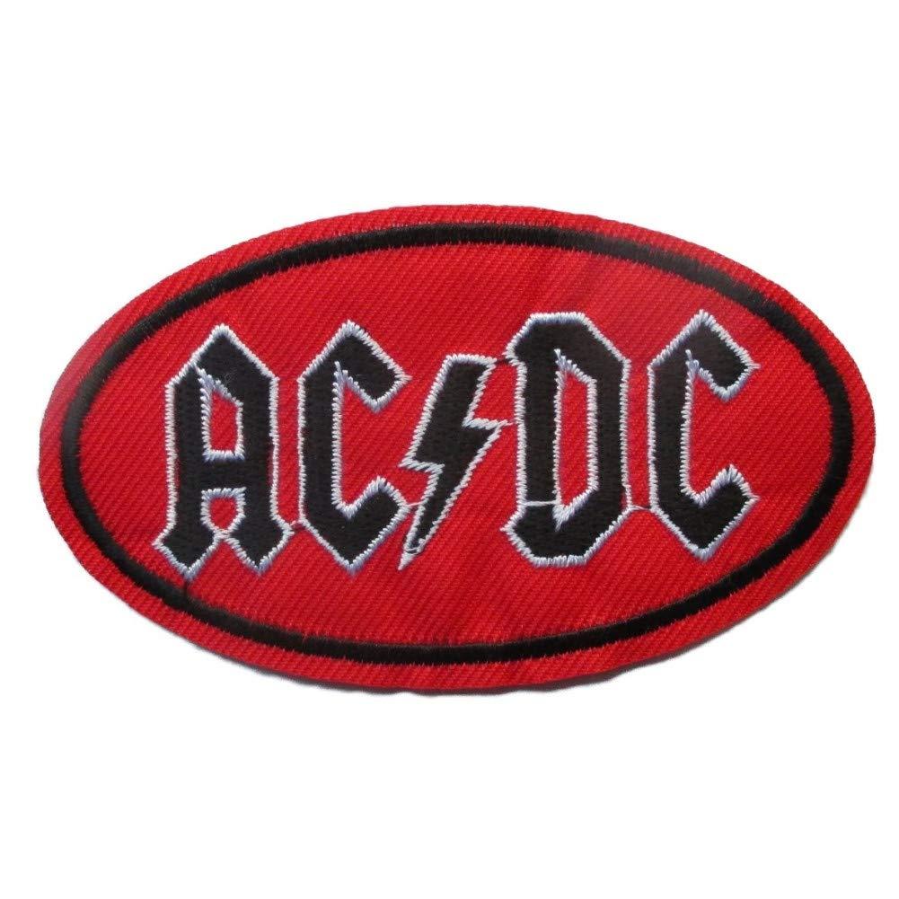 Patch thermocollant ACDC Ovale Rouge 9.5x5.5 cm Logo Hard Rock Groupe hotrodspirit