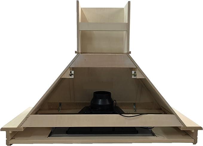 Campana cocina madera 90 fresno blanco decape con motor Faber: Amazon.es: Hogar