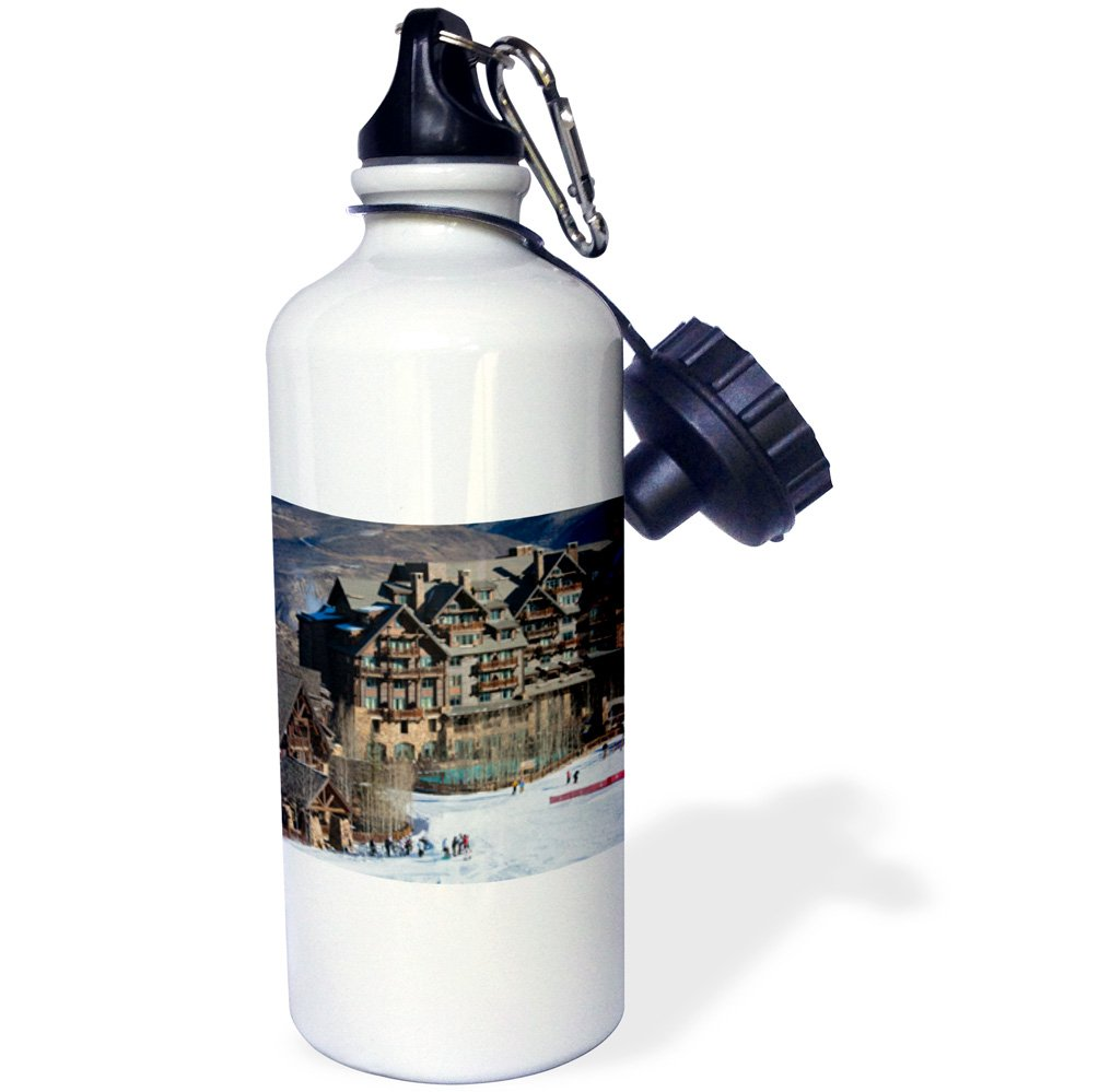 3dRose wb_143218_1''USA, Colorado, Beaver Creek, Ritz Carlton Hotel-US06 WBI0050-Walter Bibikow'' Sports Water Bottle, 21 oz, White