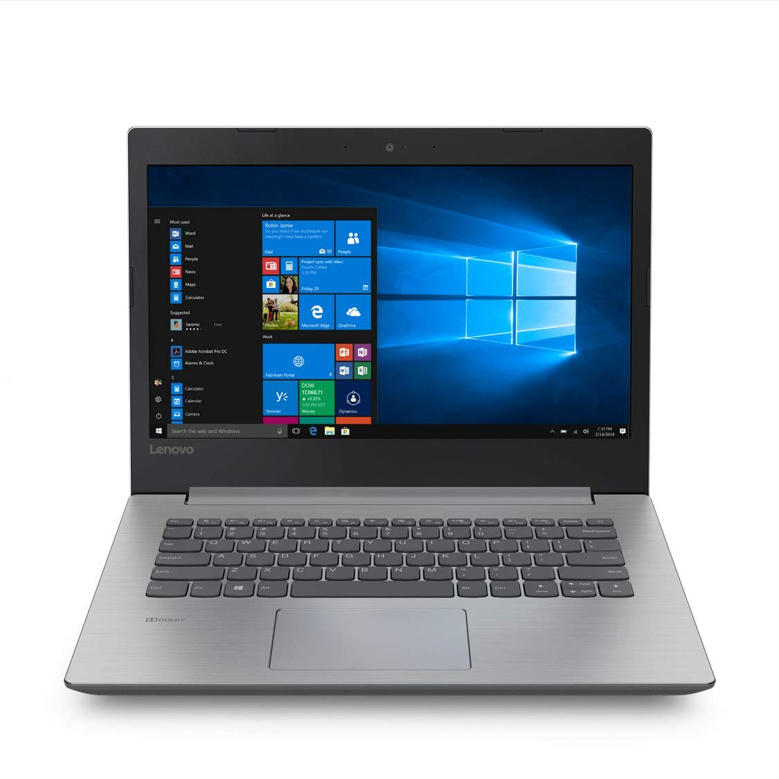 Lenovo Ideapad 330 AMD A6 14-inch Laptop (4GB 500GB HDD Windows 10 Home Platinum Grey), 81D5003HIN