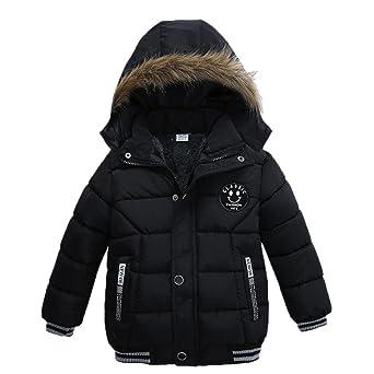 VENMO Mode Kinder Mantel Mädchen Dicke Kleidung Gepolsterte Winterjacke Daunenjacke Jungen Jacke Daunenjacken mit Kapuze Ultr