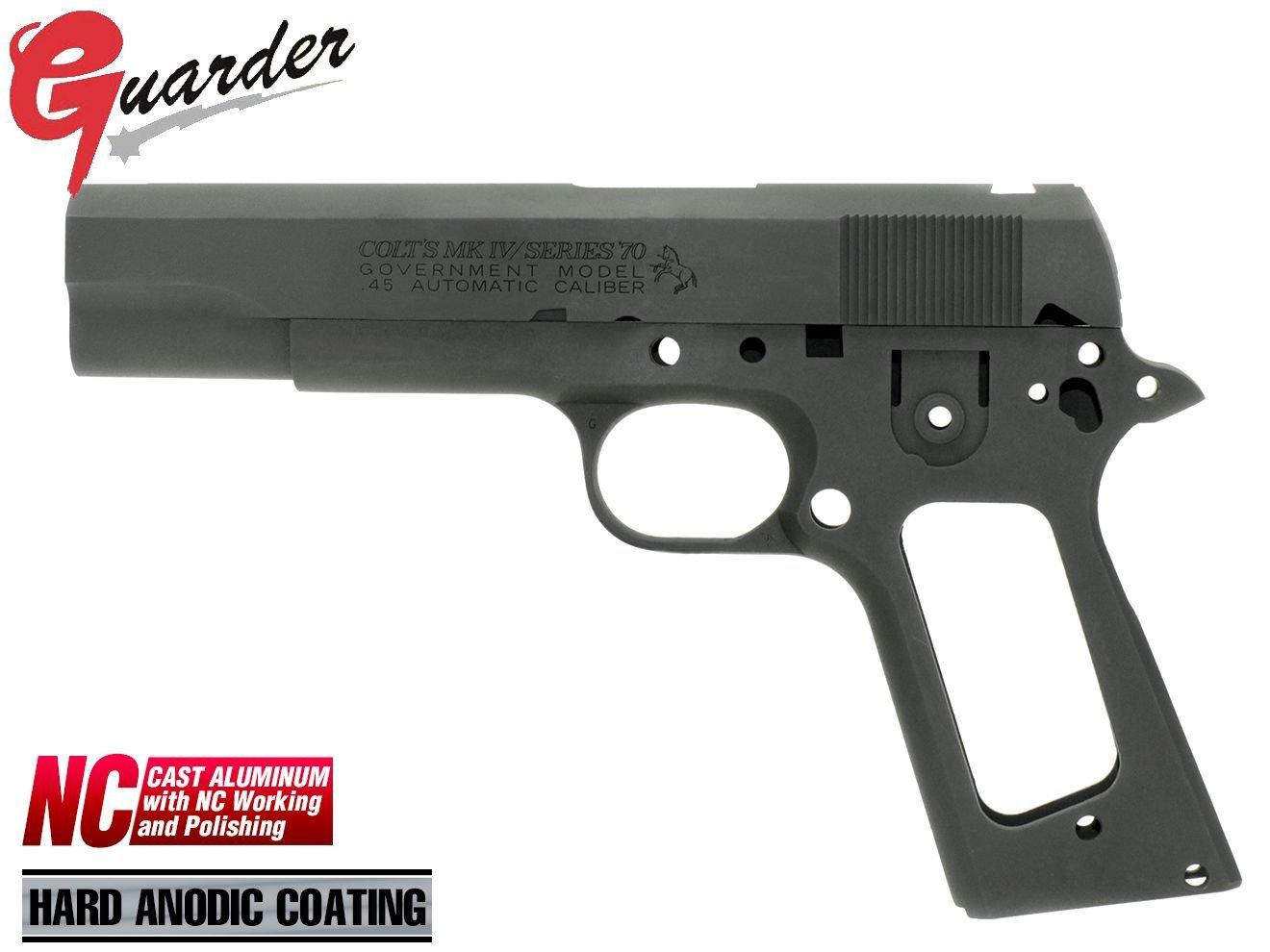 GUARDER COLT 1911 シリーズ70's アルミスライド&フレーム BK(ブラック) B07BTG8L7X
