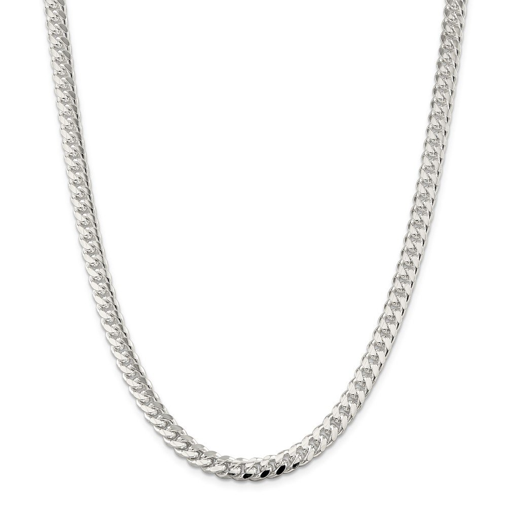 Sterling Silver 7.0mm Domed Curb Chain