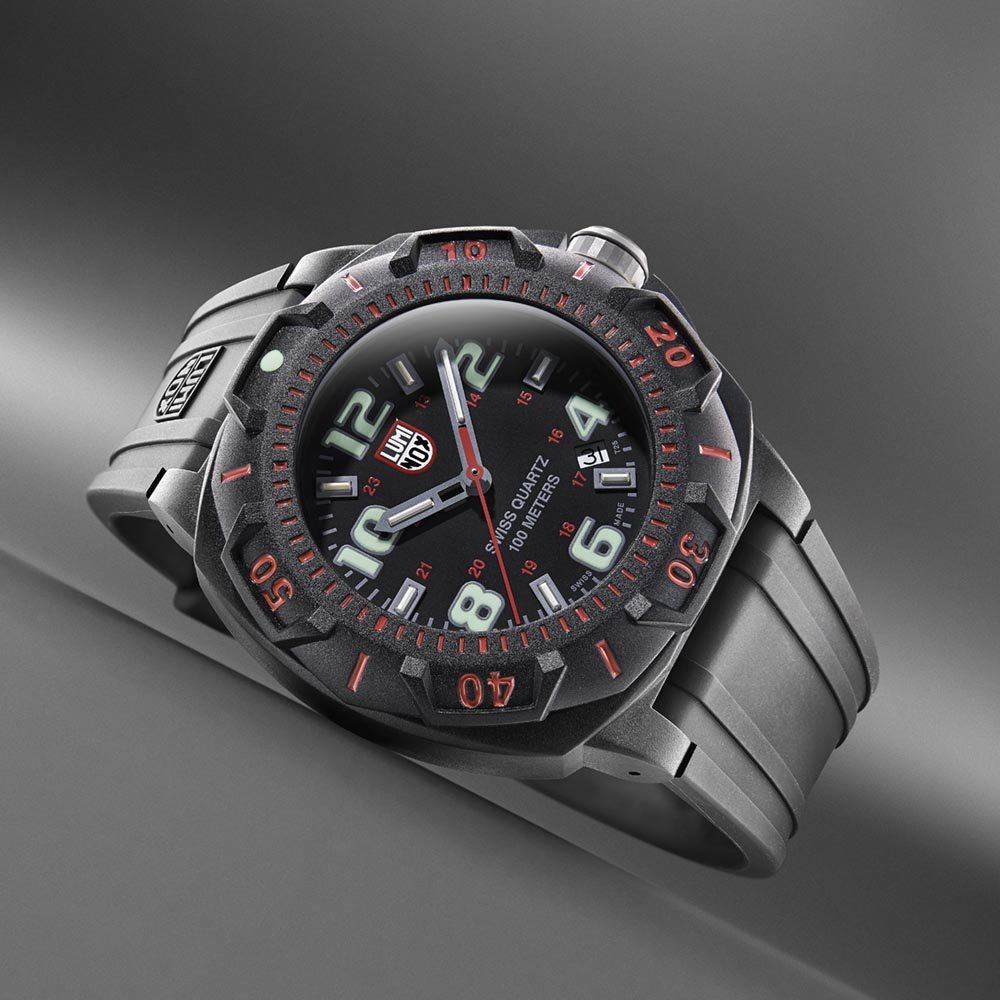 Amazon.com: Luminox Mens 0215.SL Sentry 0200 Black Dial With Red Markings Watch: Luminox: Watches
