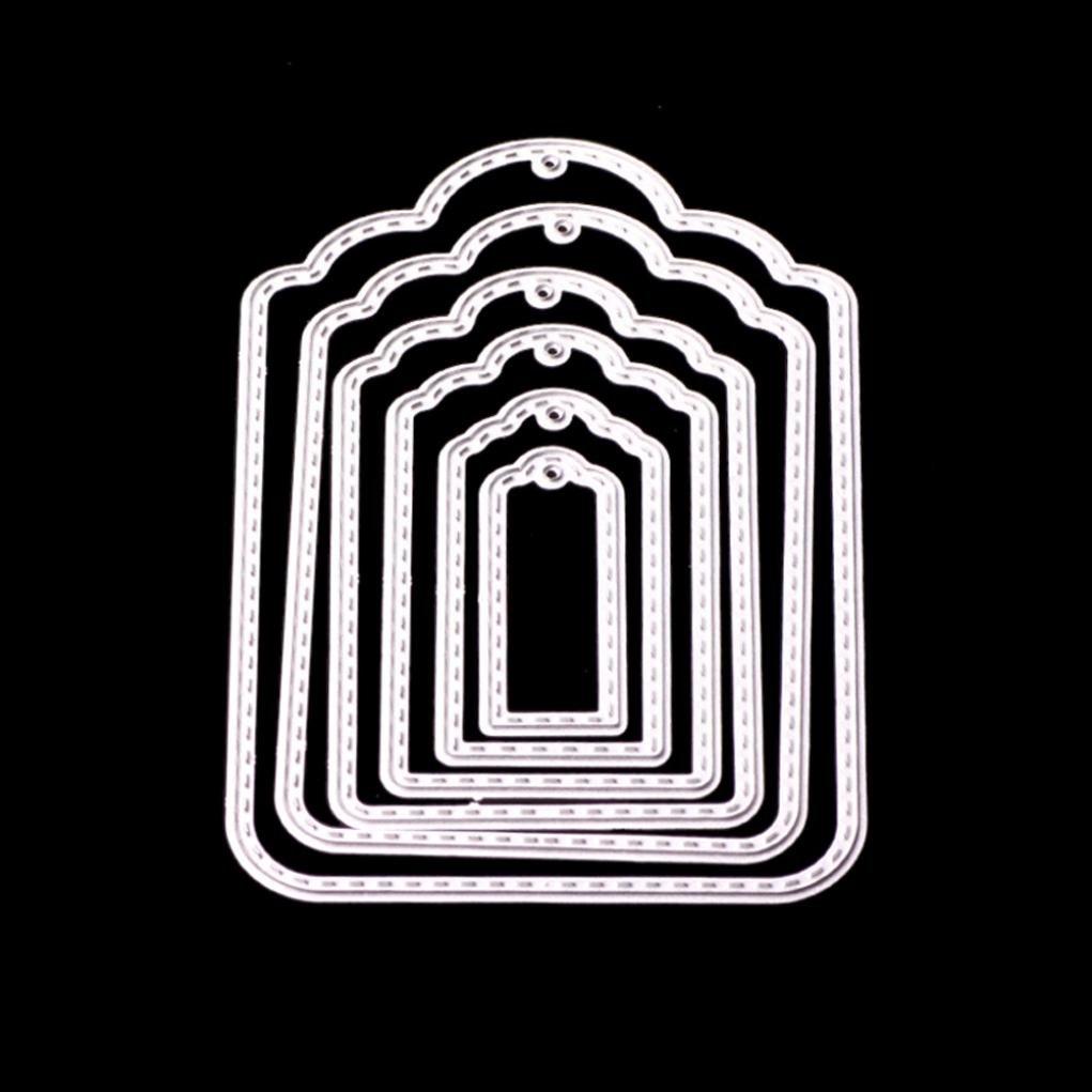 FNKDOR Metallo Fustelle per Scrapbooking Fustella Stencil Taglio del Mestiere Stampo Foto DIY Album Goffratura Stampi Segnalibro A Accessori per Big Shot e altre Fustellatrice macchina