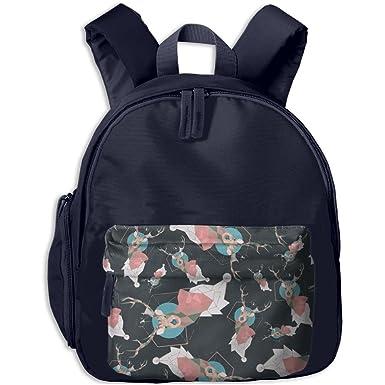c95d14e83e Cool Reindeer Horns Prismatic Kids Boys Girls Backpack Cute Travel Bag