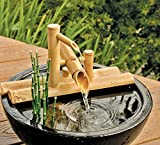 Bamboo Accents Rocking Fountain on Bamboo Arms - 16 Inch Width for Use with Your Favorite Container...