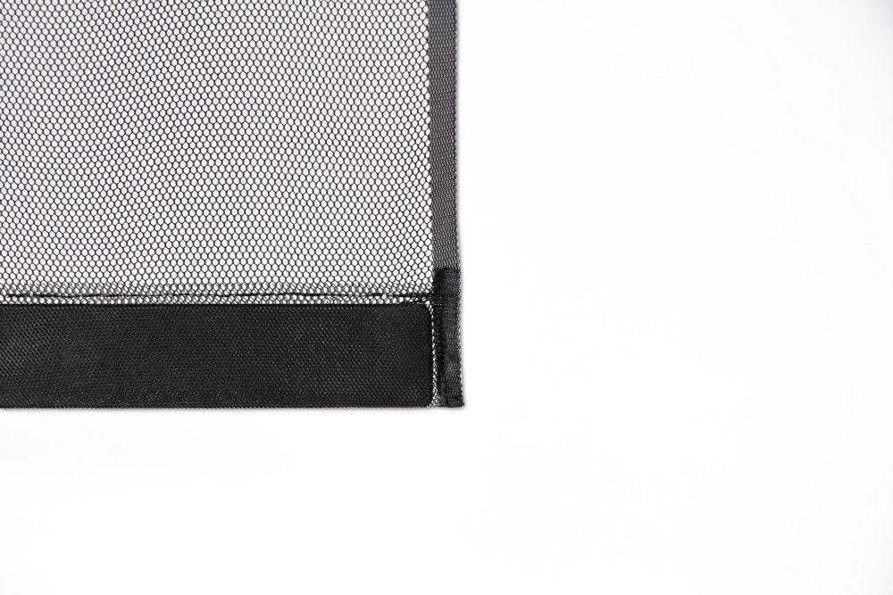 L125 x H240 cm Moustiquaire Rideau 5 Lamelles avec Poids SMART Noir