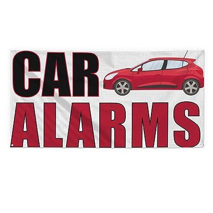 Amazon.com : Car Alarms Outdoor Fence Sign Vinyl Windproof ...