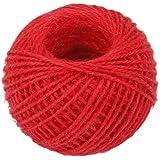 50m Corde de Chanvre Ficelle Cordon pour Emballage Cadeau Artisanat DIY - Rouge