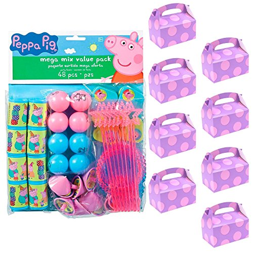 Peppa Pig Filled Favor Box Kit (for 8 Guests) ()