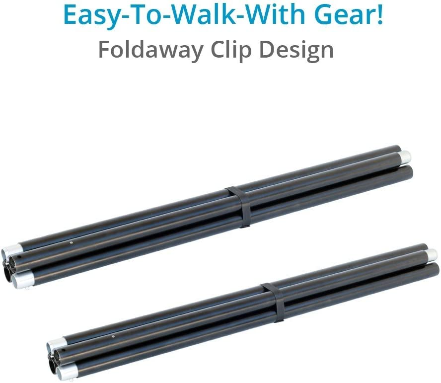 TK-CLIP-00 Proaim Clip 10.6ft Foldable Tool-Less Straight Travel Track for Camera Dolly /& Light Cranes Rail Diameter 30mm//1.18 Payload up to 300kg//660lb| Elastic-Cord Design+ Track Pads +Bag