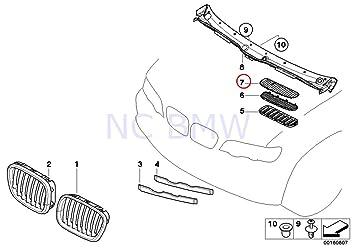 amazon genuine bmw x5 e53 hood vent air inlet black grille BMW Pedal Car Parts genuine bmw x5 e53 hood vent air inlet black grille right oem 51137113730