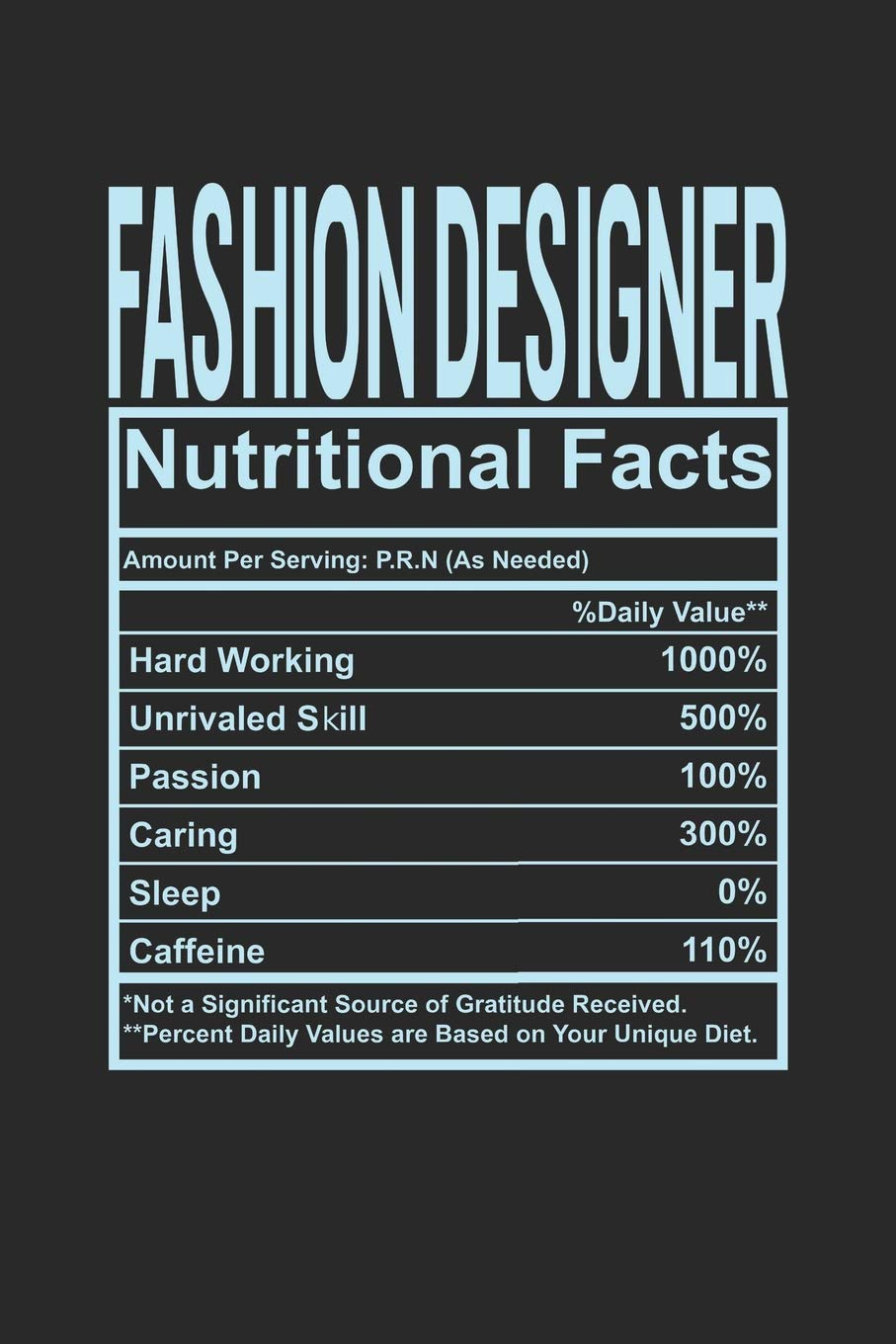 Amazon Com Fashion Designer Nutritional Facts 6x9 Checkered Notebook 120 Pages Composition Book And Journal Funny Gift For Your Favorite Fashion Designer 9781074652876 Publishing Dennex Books