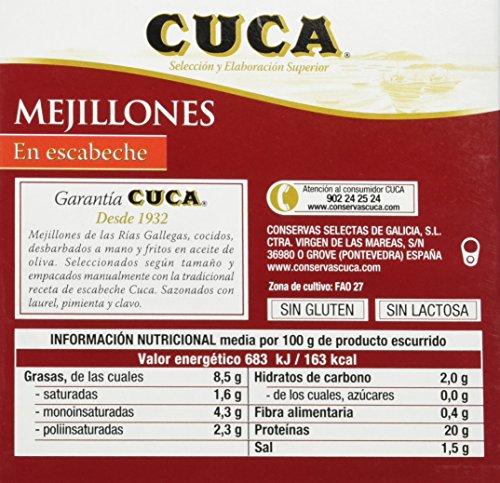 Cuca - Mejillones En Escabeche 12/16 Piezas Ol-120