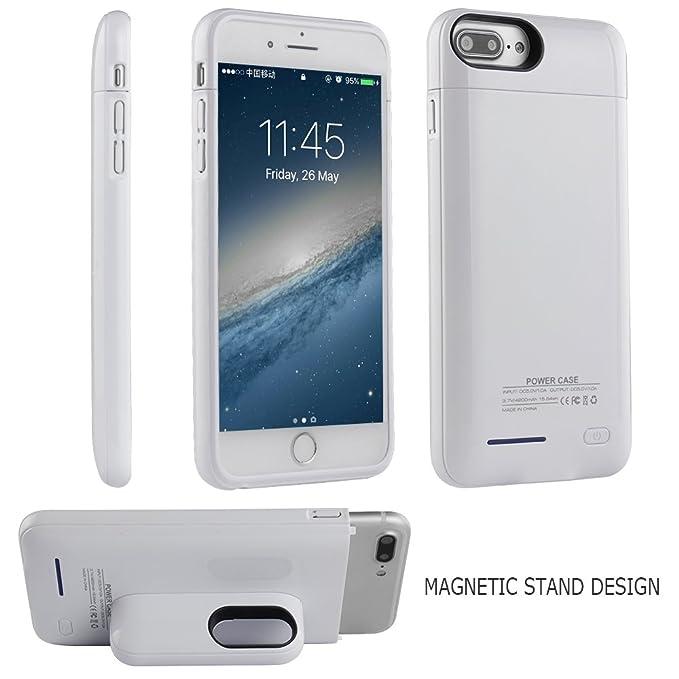 san francisco 0cab0 18395 Battery Case for iPhone 8/7 Plus 6 Plus 6S Plus Portable Charger Case -  i.VALUX 4200mAh Slim Protective Case External Battery Rechargeable Backup  ...