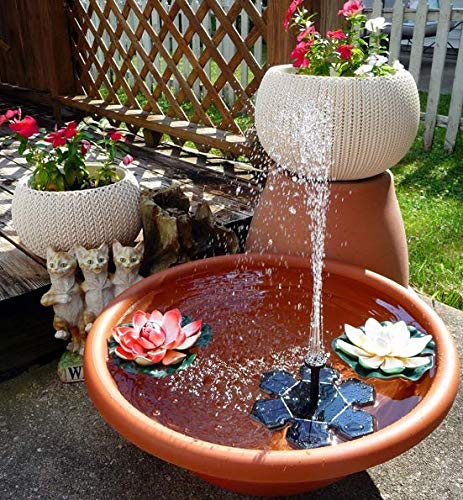 Brilliant Solar Power Bird Bath Fountain Pump1.4W Powered Floating Fountain Pump for Garden, Pond, Pool, and Patio Free Standing Solar Fountain Water Pumps by Brilliant (Image #6)'