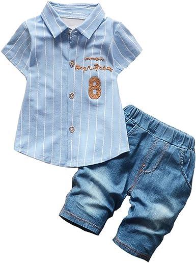 2pcs Kids Baby Boys Mickey Cartoon Denim Outfits Coat+Pants Cowboy Jacket Sets