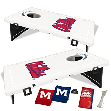 Ole Miss Mississippi Rebels Baggo Bean Bag Toss Portable Cornhole Tailgate  Game With